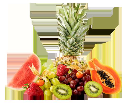 früchte obst frisch kiwi ananas melone papaya